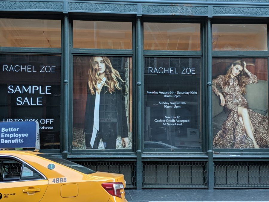 rachel zoe sample sale review