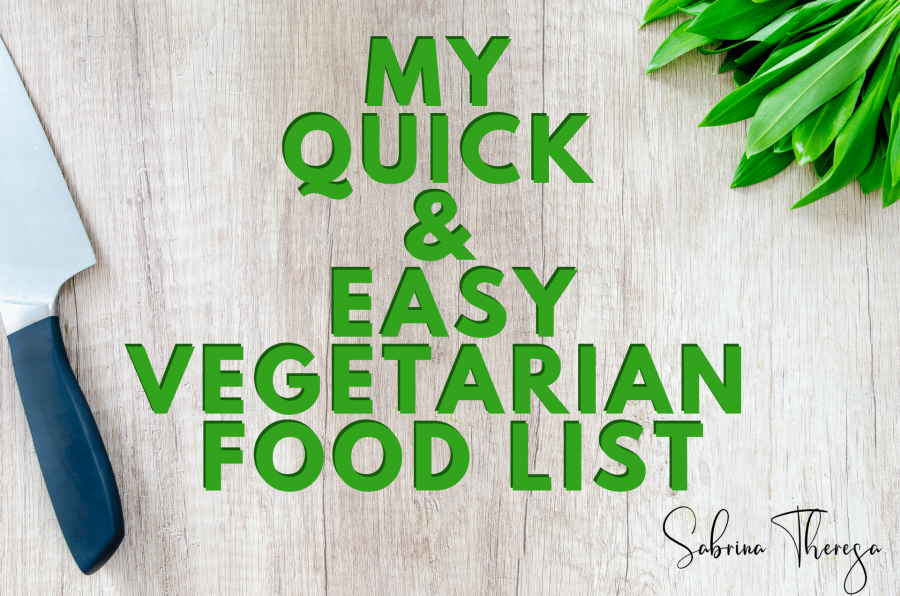 vegetarian food list - Sabrina Theresa